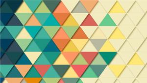 [フリーイラスト] 並んだ三角形の背景